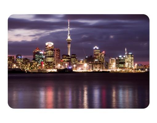 Produktfoto Selbstklebendes Wandbild Auckland bei Nacht