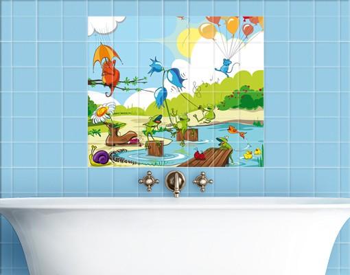 Produktfoto Fliesenbild No.NL1 Tierkonzert