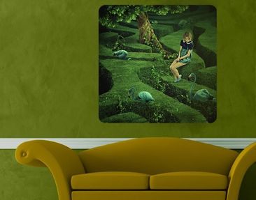 Product picture Wall Mural Woman in the Labyrinth