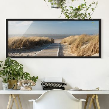 Product picture Framed print - Baltic Sea Beach -...