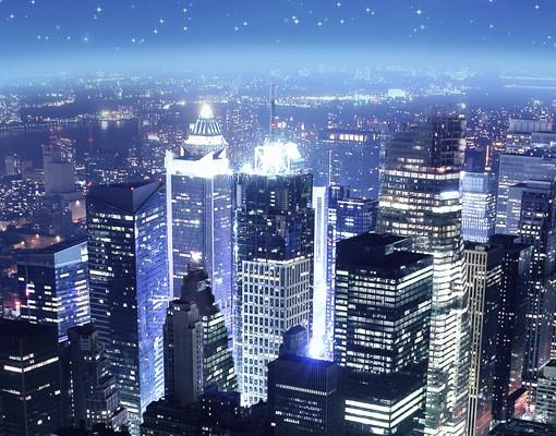Produktfoto Selbstklebendes Wandbild Illuminated New York Triptychon I
