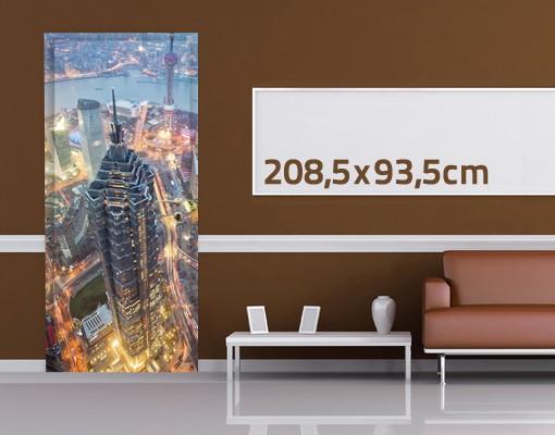 Produktfoto TürTapete Shanghai