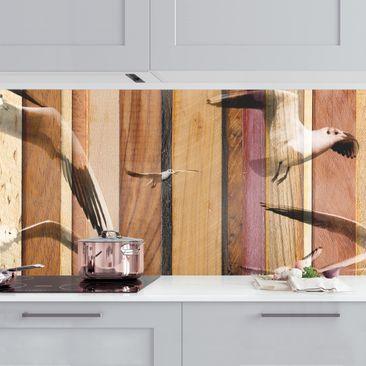 Produktfoto Küchenrückwand - Seemöwen vergrößerte Ansicht in Wohnambiente Artikelnummer 235706-XWA