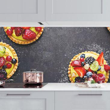 Produktfoto Küchenrückwand - Beerendessert vergrößerte Ansicht in Wohnambiente Artikelnummer 235748-XWA