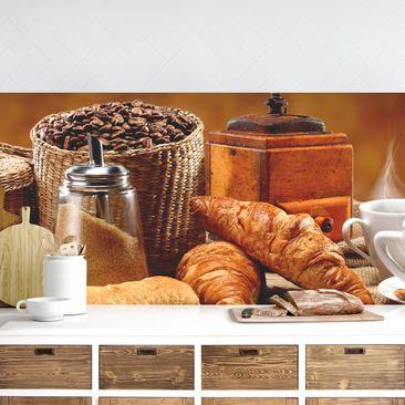 Produktfoto Küchenrückwand - Frühstückstisch vergrößerte Ansicht in Wohnambiente Artikelnummer 235828-XWA