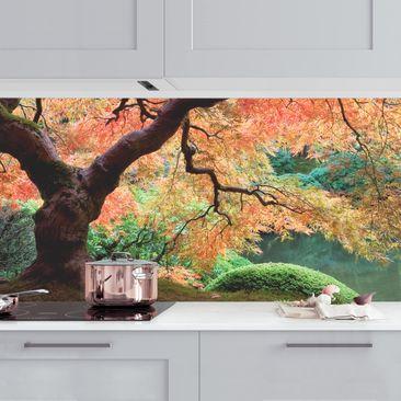 Produktfoto Küchenrückwand - Japanischer Garten vergrößerte Ansicht in Wohnambiente Artikelnummer 235848-XWA