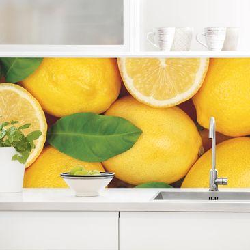 Produktfoto Küchenrückwand - Saftige Zitronen vergrößerte Ansicht in Wohnambiente Artikelnummer 235916-XWA