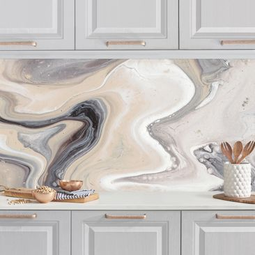 Produktfoto Küchenrückwand - Gesteinsschmelze II vergrößerte Ansicht in Wohnambiente Artikelnummer 235970-XWA