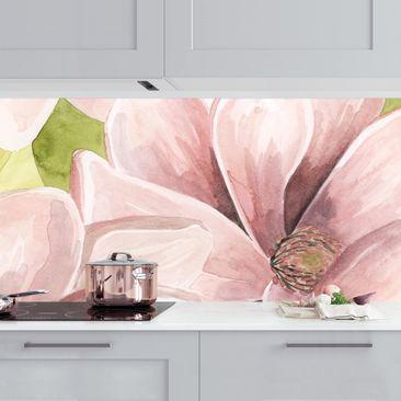 Produktfoto Küchenrückwand - Magnolie errötet II vergrößerte Ansicht in Wohnambiente Artikelnummer 235991-XWA