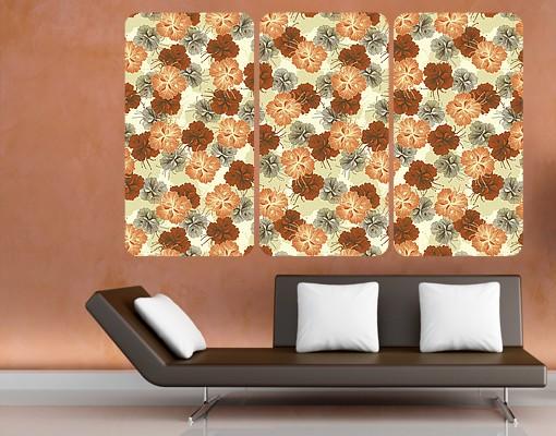 Produktfoto Selbstklebendes Wandbild Verzaubernder Hibiskus Triptychon I