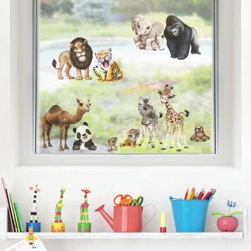 Produktfoto Fensterfolie Fenstersticker Kinderzimmer - Animal Club International - Tiere in Afrika