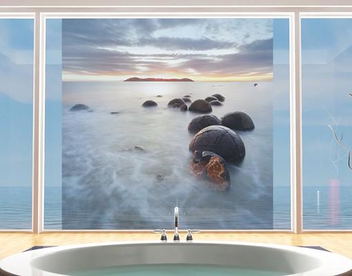Produktfoto Fensterfolie - Sichtschutz Fenster Moeraki Neuseeland - Fensterbilder