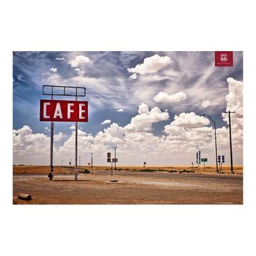 Produktfoto Fototapete - Route 66 - Straßencafé - Fototapete Breit