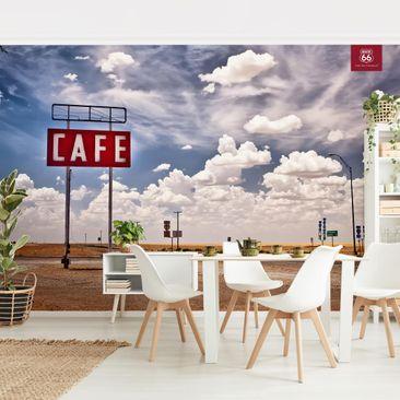 Produktfoto Tapete selbstklebend - Route 66 - Straßencafé - Fototapete Querformat
