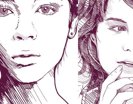 Produktfoto Selbstklebendes Wandbild No.TA100 Schöne Augenblicke Schwarzweiss