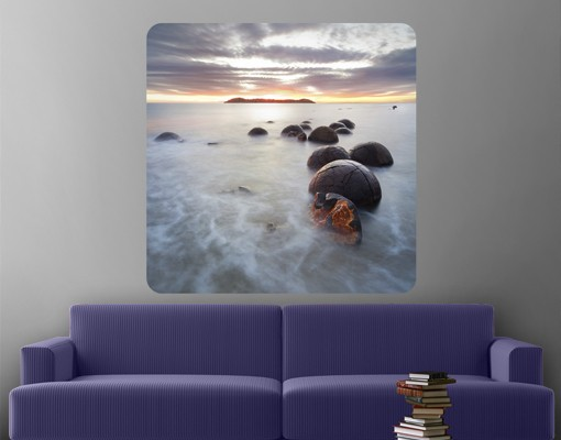 Produktfoto Selbstklebendes Wandbild Moeraki Neuseeland