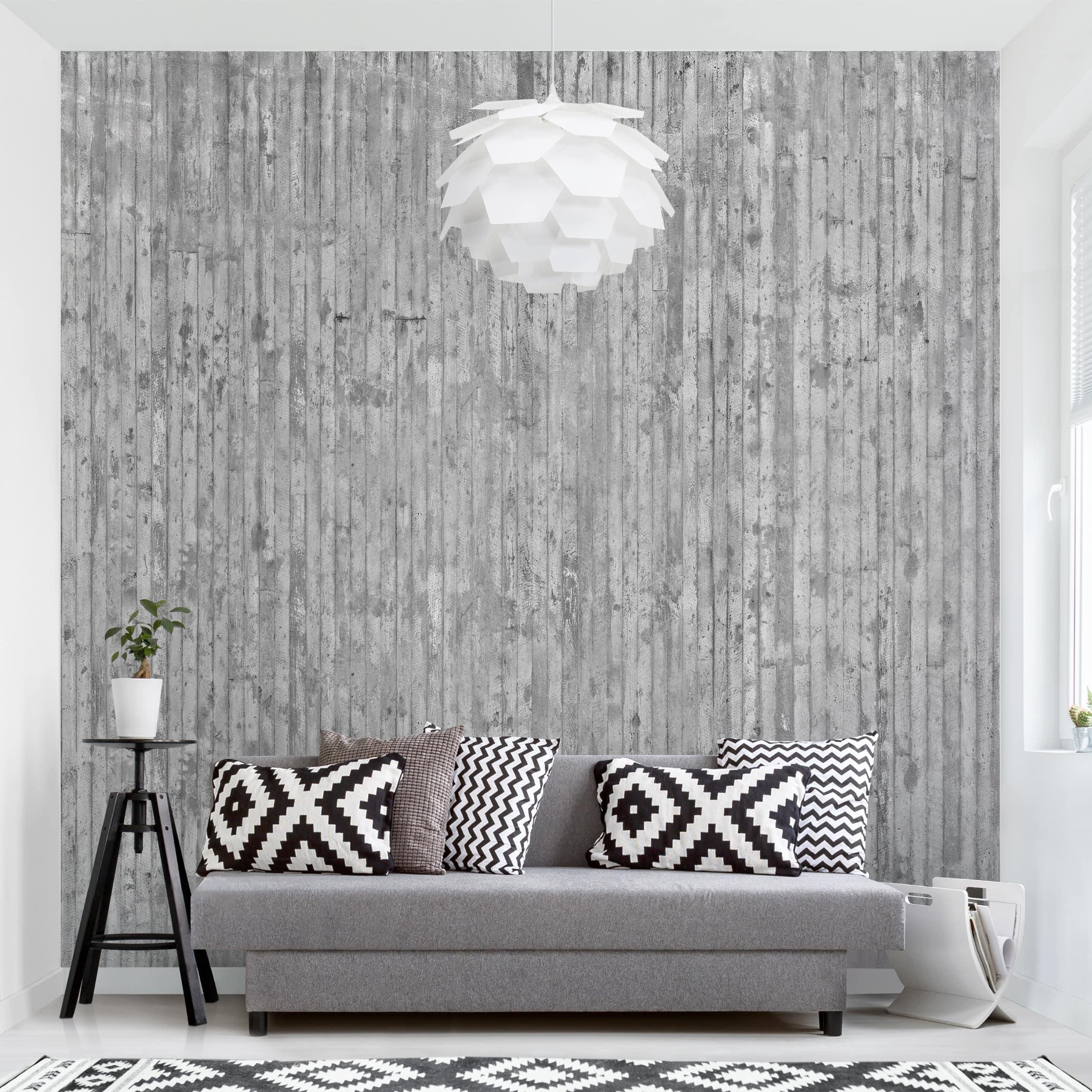 tapete selbstklebend betonoptik tapete mit streifen. Black Bedroom Furniture Sets. Home Design Ideas