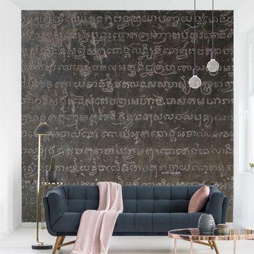 Produktfoto Tapete selbstklebend - Cambodian Script - Fototapete Quadrat