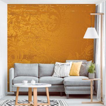 Produktfoto Tapete selbstklebend - Goldener Barock - Fototapete Quadrat