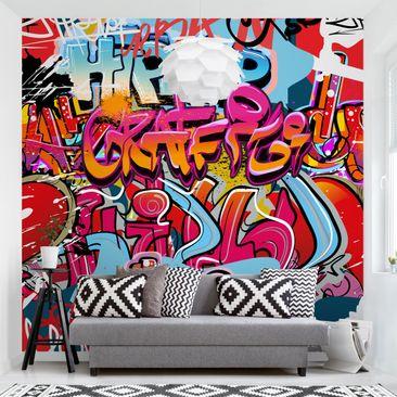 Produktfoto Tapete selbstklebend - HipHop Graffiti - Fototapete Quadrat