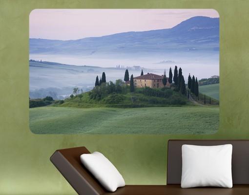 Produktfoto Selbstklebendes Wandbild Sonnenaufgang in der Toskana