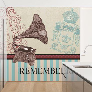 Produktfoto Tapete selbstklebend - No.KA16 Remember - Fototapete Quadrat