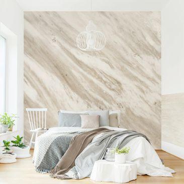 Produktfoto Tapete selbstklebend - Palissandro Marmor Beige - Fototapete Quadrat
