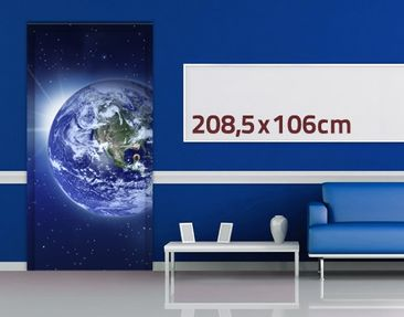 Product picture Door Wall Mural Earth In The Space