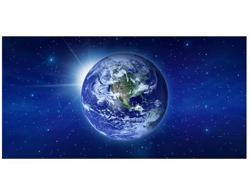 Produktfoto Fliesenbild Erde im Weltall