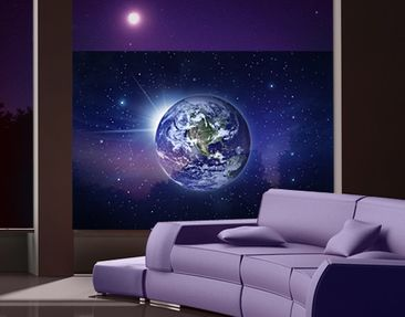 Produktfoto Window Mural Earth Into The Space