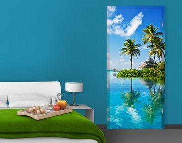 Produktfoto Door Wall Mural Tropical Paradise