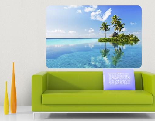 Produktfoto Selbstklebendes Wandbild Tropisches Paradies