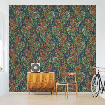 Produktfoto Tapete selbstklebend - Filigranes Paisley Design - Fototapete Quadrat