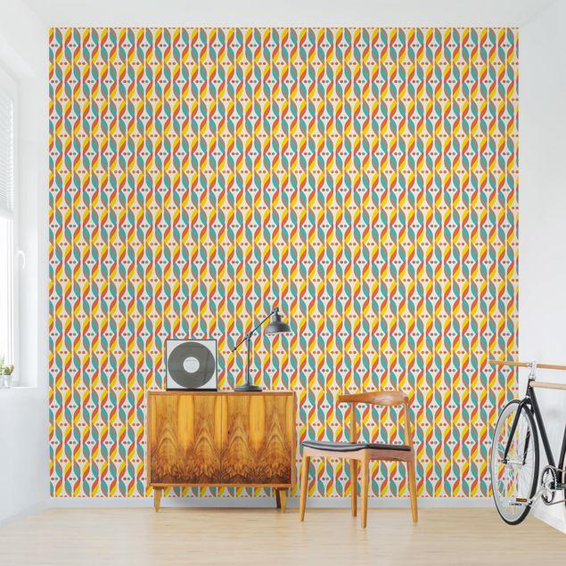 Produktfoto Tapete selbstklebend - Retro DNA Ornament - Fototapete Quadrat