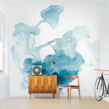 Immagine del prodotto Carta da parati adesiva moderna - Aquamarine foschia I - Formato quadrato