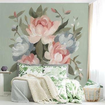 Immagine del prodotto Carta da parati adesiva fiori - Mazzo in Pastel I - Formato quadrato
