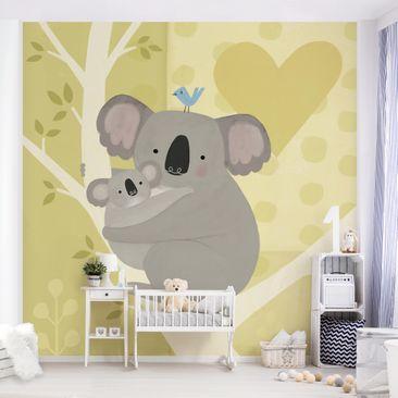 Produktfoto Tapete selbstklebend - Mama und ich - Koalas - Fototapete Quadrat
