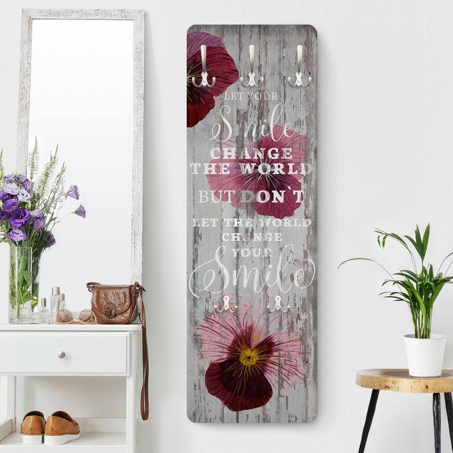 Produktfoto Garderobe - Shabby Orchidee - Smile