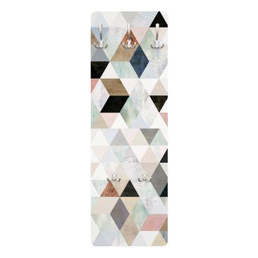 Produktfoto Garderobe - Aquarell-Mosaik mit Dreiecken I