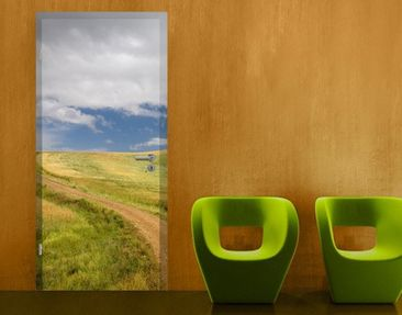 Product picture Door Wall Mural Cypress Trees In Tuscany