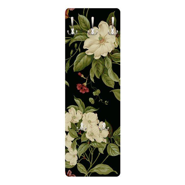 Produktfoto Garderobe - Gartenblumen auf Schwarz I