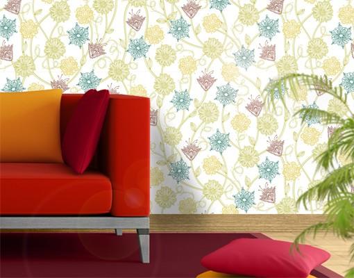 fototapete blumen bezaubernde pflanzen tapete selbstklebend. Black Bedroom Furniture Sets. Home Design Ideas