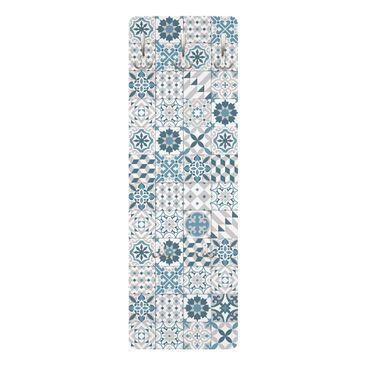 Immagine del prodotto Appendiabiti disegni - Piastrelle mosaico geometrico Blu Grigio