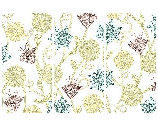 Produktfoto Selbstklebendes Wandbild Bezaubernde Pflanzen Triptychon I
