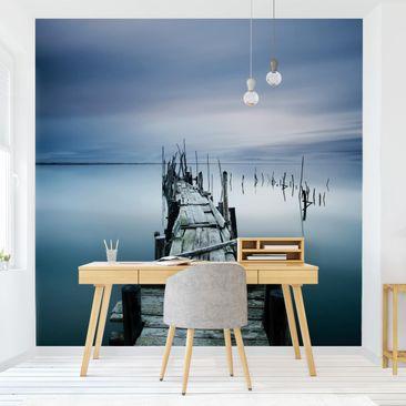 Produktfoto Tapete selbstklebend - Zeitloser Steg - Fototapete Quadrat