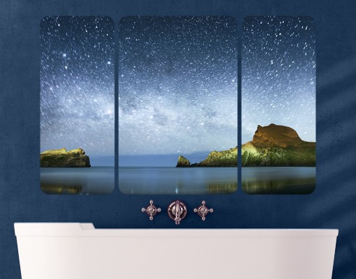Produktfoto Selbstklebendes Wandbild Sternenhimmel Triptychon II
