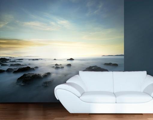 sonnenuntergang fototapete selbstklebend sonnenuntergang ber dem ozean. Black Bedroom Furniture Sets. Home Design Ideas