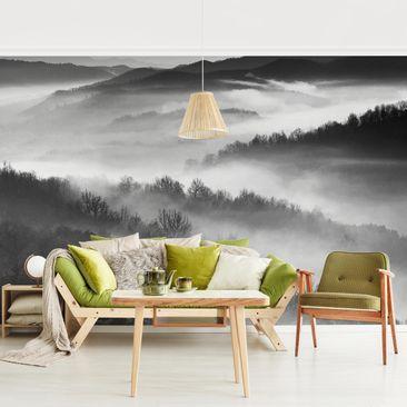 Immagine del prodotto Carta da parati foresta - Nebbia al tramonto