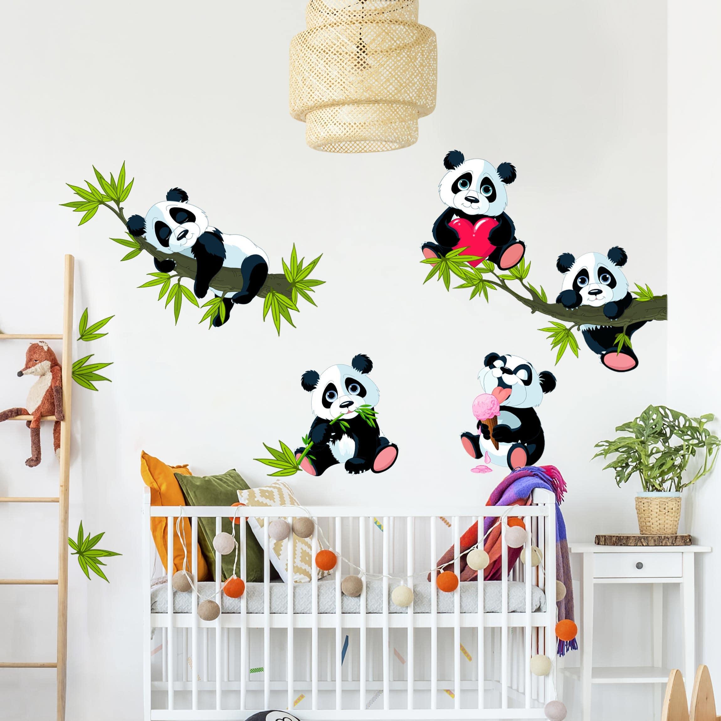 Adesivi Murali Orsetti.Adesivi Murali Bambini Set Di Dolci Orsetti Panda Stickers Cameretta