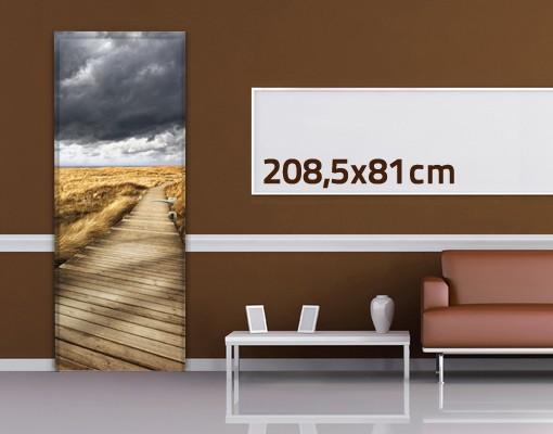 Produktfoto Türtapete Strand - Weg in den Dünen - selbstklebend